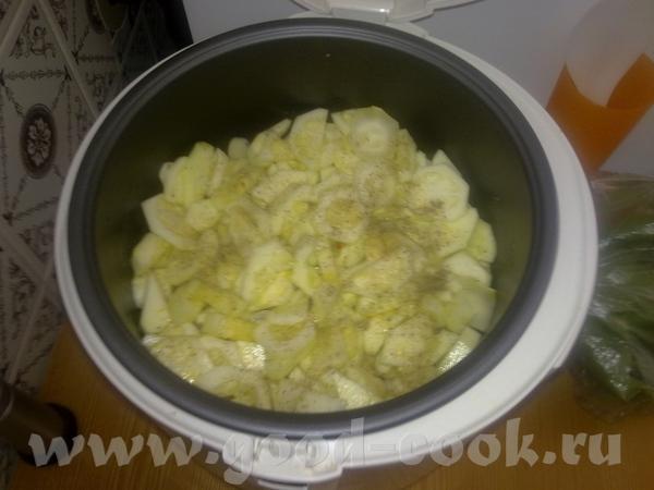 Картофель с кабачками Дно мульти хорошо смазываем сливочным маслом - 3