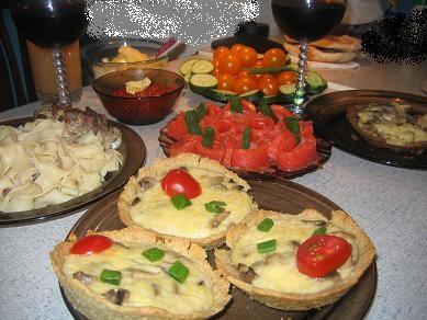 тортик вкуснющий все молодцы это наш вчерашний семейный ужин сырные корзинки поставлю в закуски-рец...