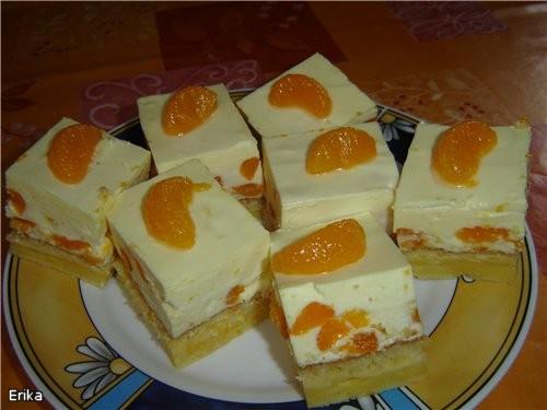 Олечка, спасибо за твои пироженые с мандаринами и сметанным кремом