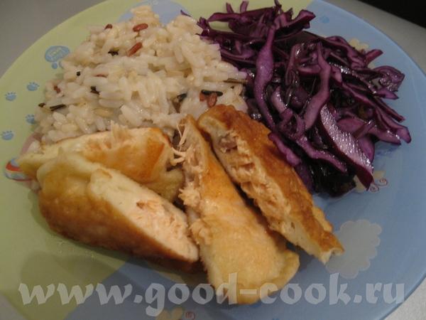 это наши два ужина картофель с кари запеченный в духовке и курочка с кисло-сладким соусом и рыбка в... - 2