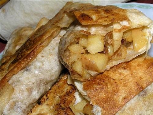 Быстрый штрудель из лаваша с яблоками и грушами Банановая запеканка Миндально-яблочные пирожные Штр... - 6