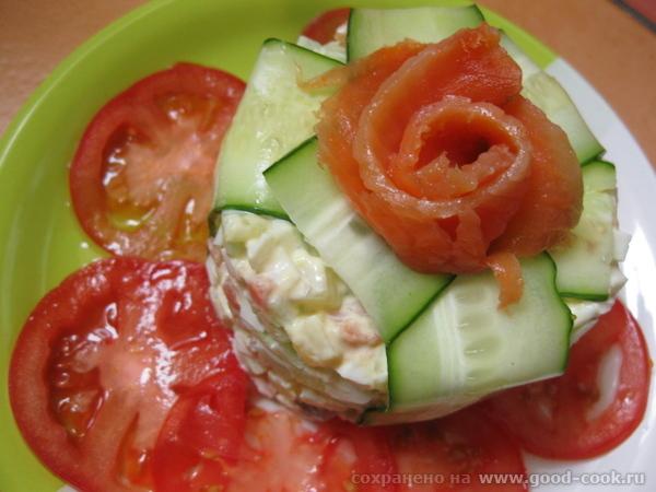 Салат норвежский Пряная говядина с кокосом от Наташи Подавала с картошкой жареной на листе - 2