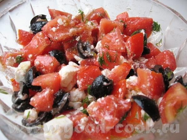 Салат с помидорами по-хорватски Из-за малого количества составляющих, вкус всех ингредиентов очень...