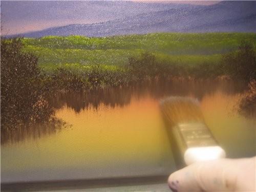 Вот таким образом мы рисуем кусты и деревья и получаем такую картинку 12 - 2