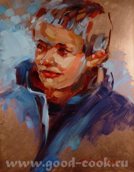 Так рисует художница к которой я ходила на курсы - 2