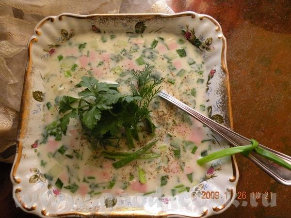 Милые сегодня банальный суп- Окрошка - 2