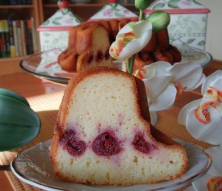 Манный кекс с вишней - 2