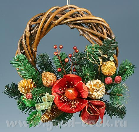 Рождественские хвойные венки и гирлянды - настоящие символы праздника - 3