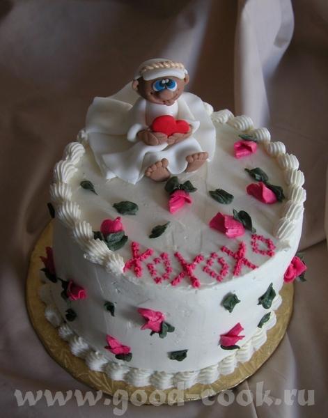 Вот такой простенький тортик сегодня сдала