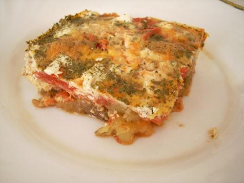 Запечённые баклажаны с фетой Баклажаны с кремом из тапенада и миндалём