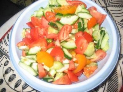 Какие вкусности вокруг У нас вчера была Жареная рыба с овощами с пюрешкой и овощным салатом - 2
