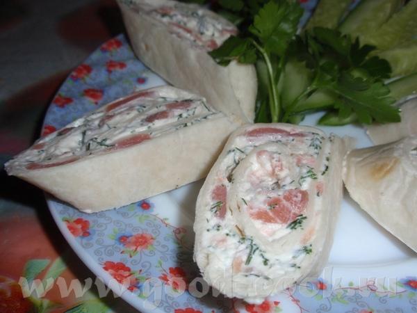 Рулет из семги с сыром фото пошагово