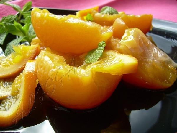 Персики в Апельсиново-Ванильном Сиропе