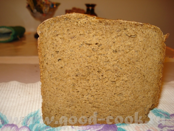 Вот мой первый хлебушек из ржаной муки Ржаной хлеб на сухом квасе и ряженке Дрожжи сухие - 1 1/4 ч - 2
