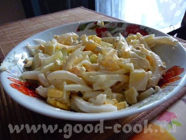 Щи зеленые Салат из кальмаров - 2
