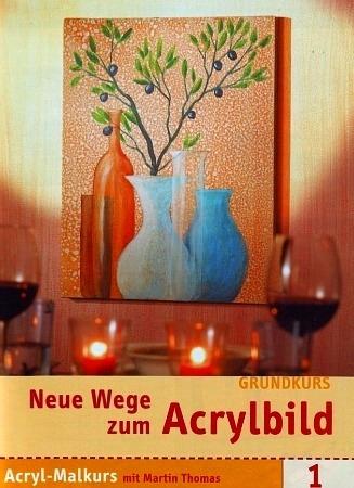 Три книжки по акрилу на немецком языке: абстракция, мастихин, моделирующие пасты, пошаговые уроки,...