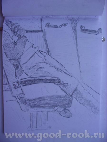 Это делаю в блокноте зарисовки пока еду в электричке: Это по-памяти на пленере: - 5
