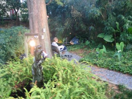 Утром я проснулась рано и до завтрака читала книжку в садике гостиницы, за этим занятием и застал м...