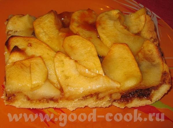 Фламбированный яблочный пирог с грецкими орехами на песочном тесте - 2