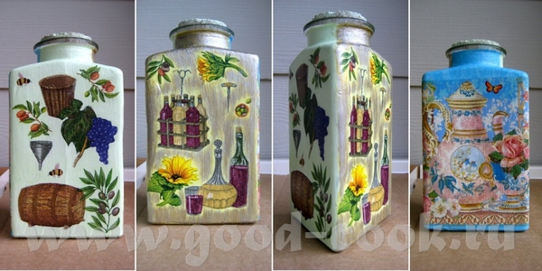 Бутылочки, можно для масла, уксуса, соусов… Зелененькая и желтенькая – бутылки, белый грунт, фрагме... - 2