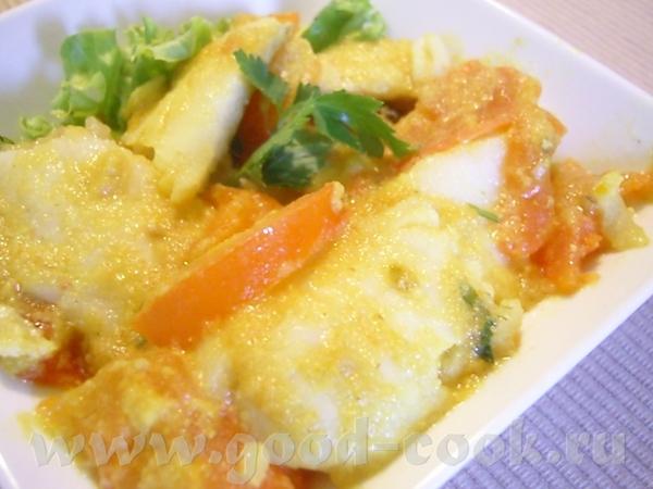 Рыба карри Что нужно: лук репчатый - 1 луковица 1 кусочек (5 см) имбиря по 1 ч
