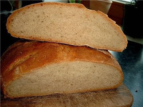 Пшенично-ржаной хлеб от Слова автора: пшенично-ржаной хлебушек на опару:5 г дрожжей,100г ржаной мук...
