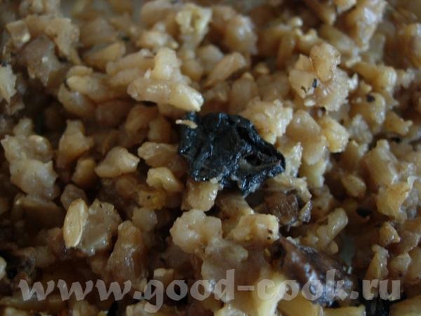 Бурый рис с грибами