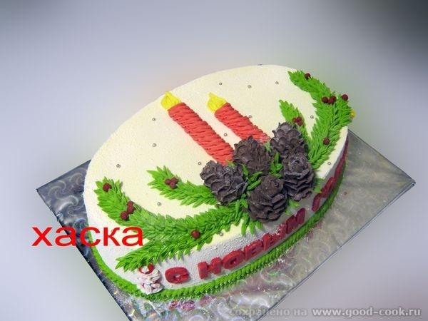 Украшаем новогодний торт фото