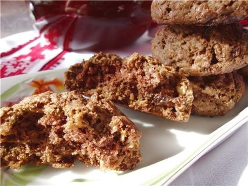 Обновила фотки в рецепте Овсяное печенье с шоколадом На этот раз было мюсли 1 стакан - 2
