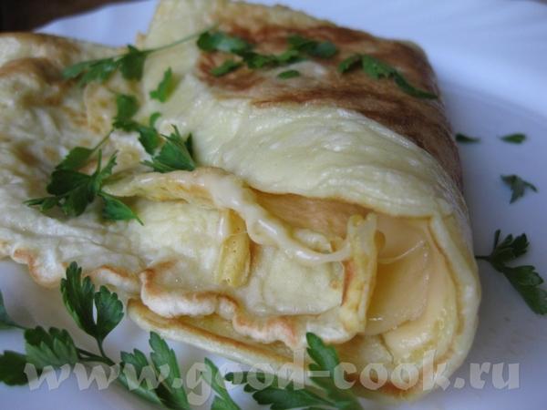 ОМЛЕТНЫЕ БЛИНЧИКИ К ЗАВТРАКУ от Я их готовила с сыром, очень вкусно получилось
