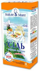 Я из последней поездки в Киев привезла соль морскую пищевую с ламинарией