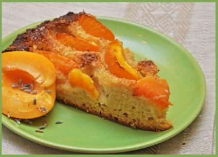 Нелли спасибо тебе за Почти пирог с абрикосами и лавандой