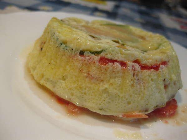 Тимбал из цуккини и томатов