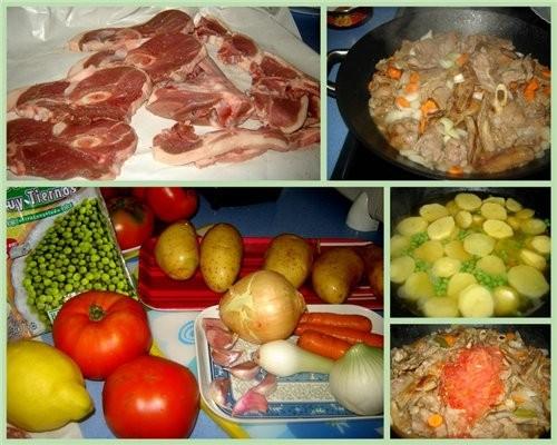 Guiso de cordero con patatas Тушеная баранина с картофелем Продукты: Баранина - 1 кг (мне нравится... - 2