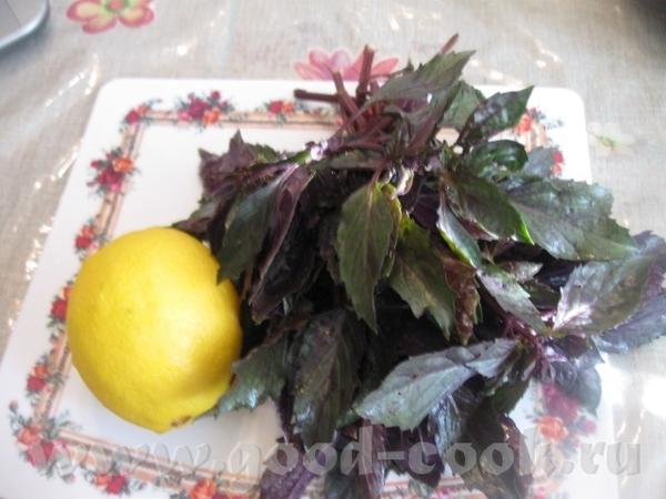 ОСВЕЖАЮЩИЙ НАПИТОК ИЗ БАЗИЛИКА С ЛИМОНОМ Очень приятный напиток с ароматом и вкусом базилика и лимо... - 2