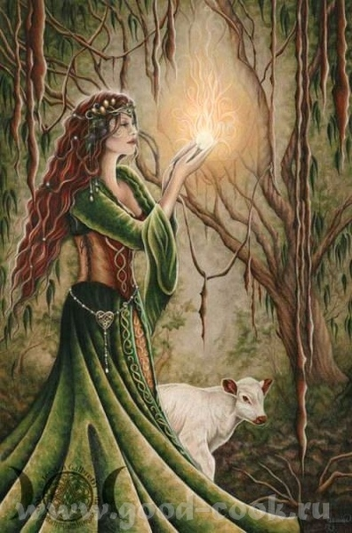 Jessica Galbreth- Celtic Myth and Magick, Gothic and Fantasy масло, акрил, цветной карандаш - 5