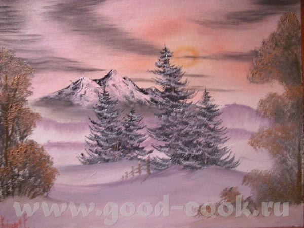 Моя первая картина маслом 40 х 50 В общем так у меня не получилось передать фотиком нужный цвет - 2