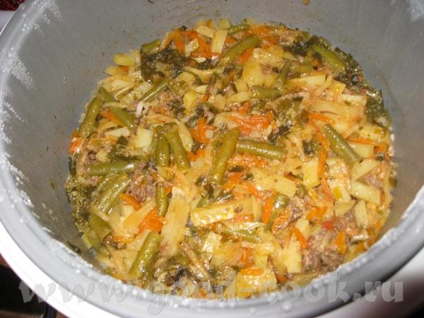 Я сегодня готовила Овощи тушеные с мясом