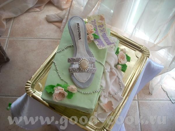 Тортик с босоножком на коробке - 2