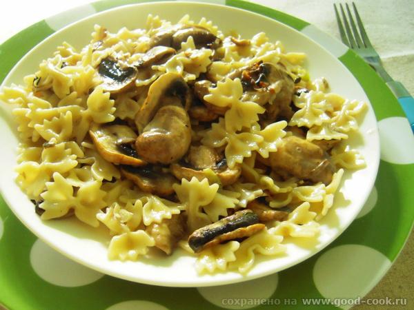 """Блюда от nastia, """"Настя и школа"""": баклажаный салат Паста с лук-пореем и грибами"""" - 2"""