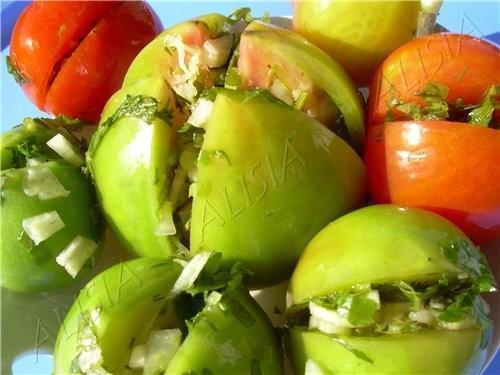 Этими помидорами когда-то меня угостила одна женщина, они были такие вкусные, что я взяла у нее рец... - 2