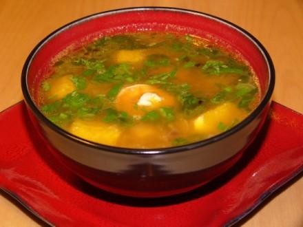 А я несу спасибу Ирис за очень вкусный рецепт Тайский Ананасово-Креветочный суп