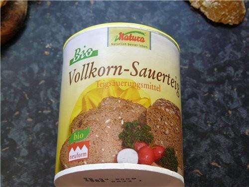 Хлеб пшенично-ржаной с сухой закваской на основе от Марины - fibi Для опары: 100 г ржаной муки 100... - 3