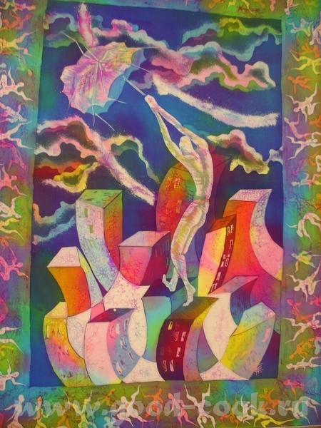 Фактурно на бумаге(если не вру): Художник Рудник, у него все работы в таком зеленом колорите(можно... - 8
