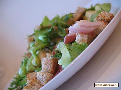 еще несу два салата с сухариками,оказались такие вкуснющие,были гости я делала с беконом,все сьели... - 2