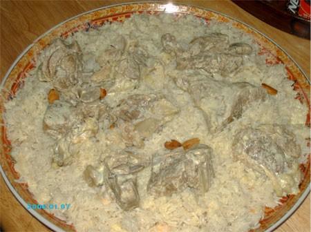 Это сам рецепт, а вот так я готовила Мансаф сегодня - 3