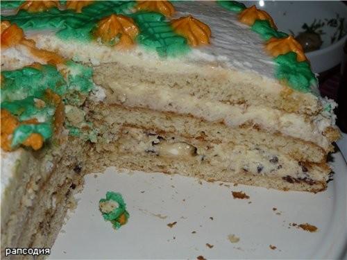 """Оленька, вот спекла твой тортик """"Рапсодия"""""""