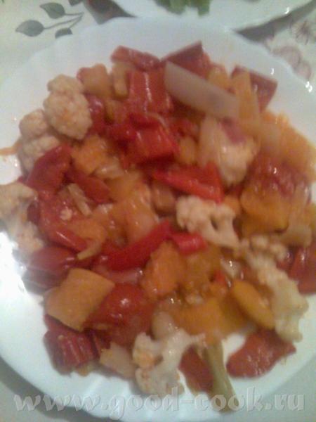 Салат из запеченых овощей от Вкусный постный салат получился