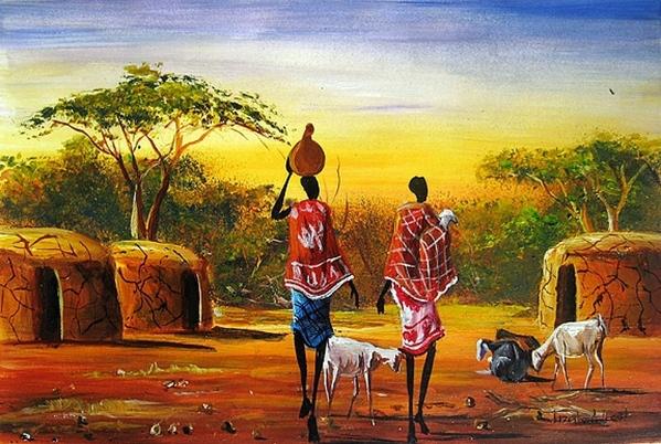 Вчера показали Африку Moder Art Decor, севодня- xудожники из Африки и то как они рисуют Африку Al A... - 4