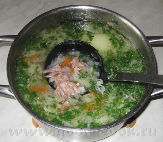 Щи из утки или гуся Лучше всего готовить в кастрюле емкостью 3 л
